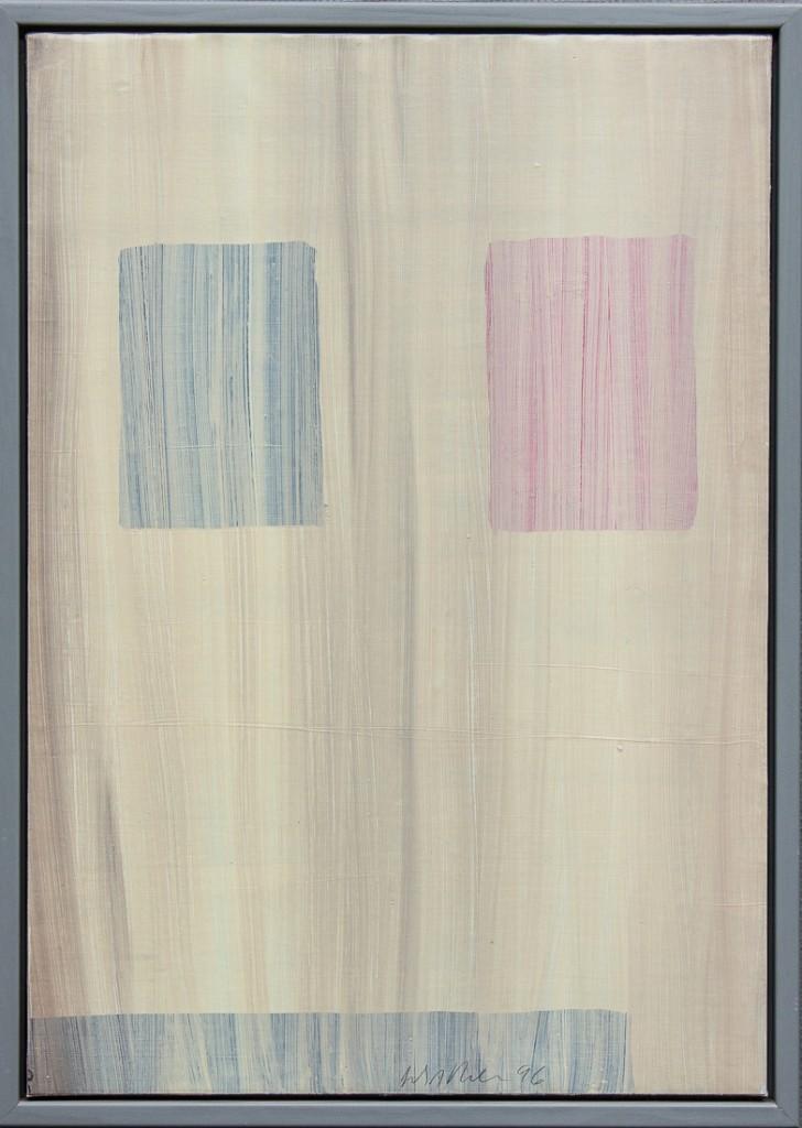 Erik A. Frandsen Olie på papir på lærred 100x70 ( 106x76 cm.)
