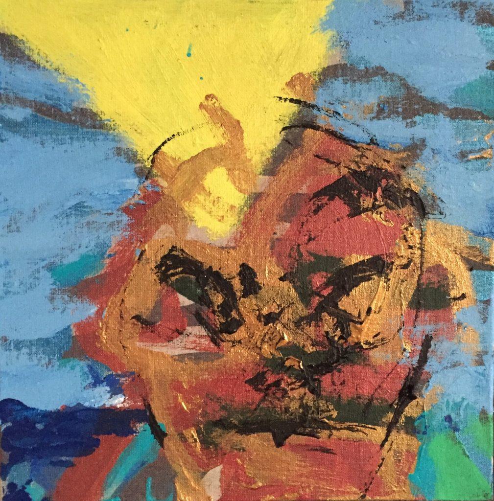 Jon Gislason Acryl på lærred 30 x 30 cm
