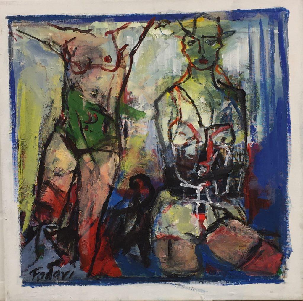 Saeed Fadavi Akryl på lærred 50 x 50 cm