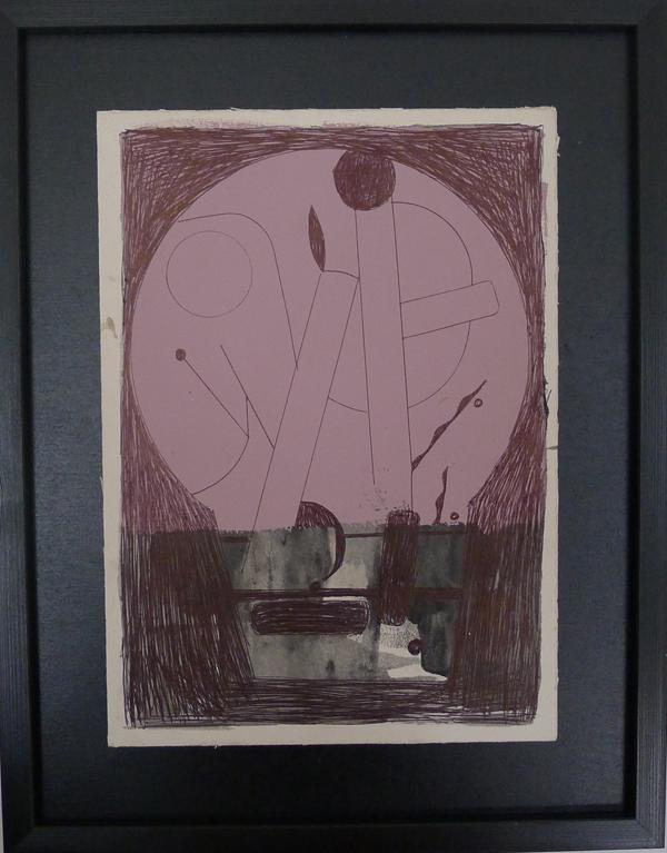 Søren Sejr Rules of Abstraction, 2015 Pen, pastel, acryl på pap 40 x 31 cm