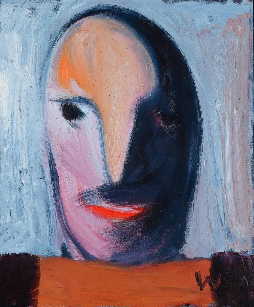 William Skotte Olsen Olie på lærred 46 x 55 cm (50 x 59 cm)